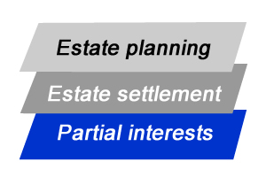 estate planning, estate settlement, partial interest